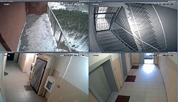 Просмотр камер наблюдения в подъезде