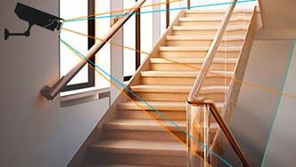 Установка камер в подъезде многоквартирного дома и на лестничной площадке