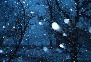 В снегопад с ИК подсветкой