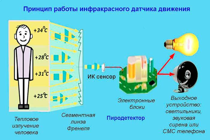 Как работает инфракрасный датчик движения