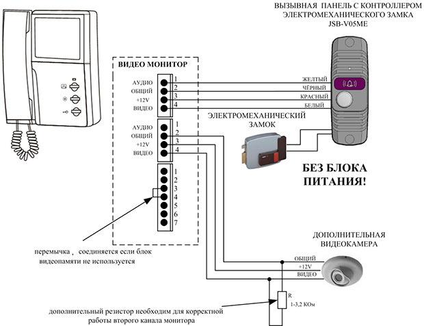 podklyuchenie-kamery-k-domofonu